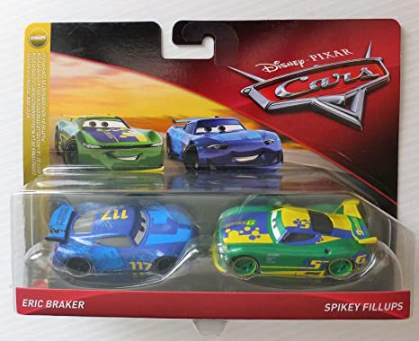 Pixar Disney Cars 1:55 Scale Eric Braker and Spikey Fillups 2 Pack