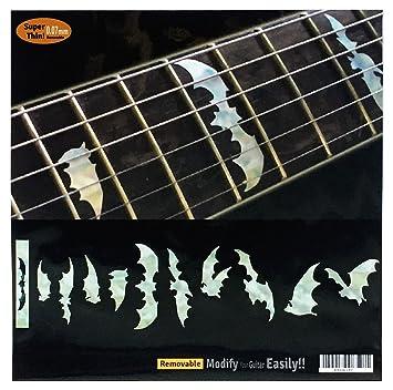 Adhesivo decorativo para guitarra y bajo con incrustaciones de diapasón, alas de bate y WP