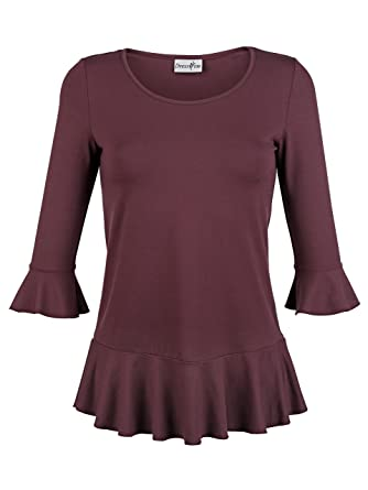c131ade4ba35 Damen Shirt mit Volant by Dress In  Amazon.de  Bekleidung