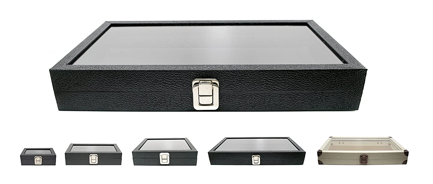 Amazoncom Novel Box Large Glass Top Black Leatherette Metal Clasp