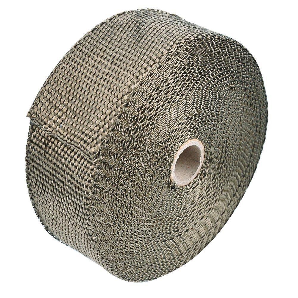 INHDBOX–Set di 10m lunghezza 5cm di larghezza Titan protezione collettore scarico Band di banda fino a 1400° calore calore Heat Wrap collettore oro