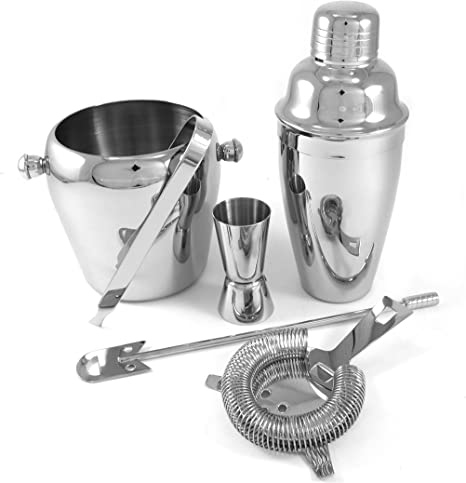 Amazon Com 6 Piece Stainless Steel Bar Set Kitchen Dining
