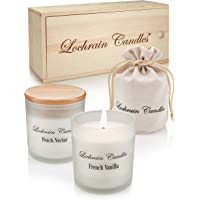 LOCHRAIN Set Velas Perfumadas de Soja – Aromaterapia