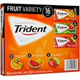 Trident Sugar-Free Gum Fruit Variety Pack, 16 Count