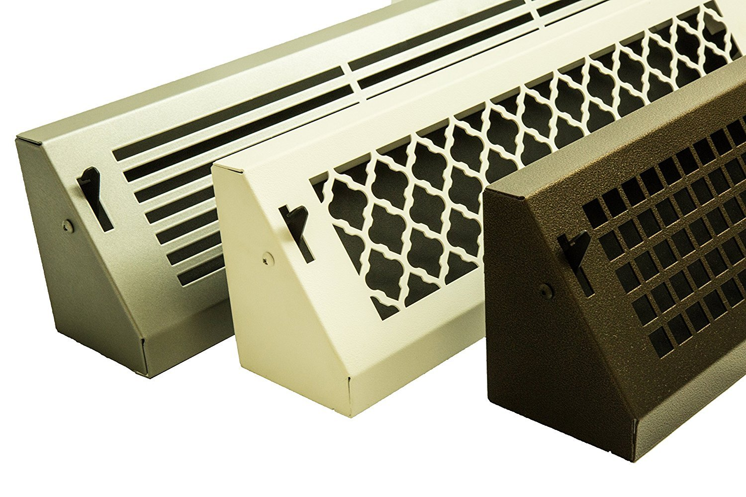 Tuscan Metal Baseboard Register (18'' (Overall Length), Oil Rubbed Bronze) by Vent Covers Unlimited