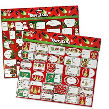 amazon com 240 self adhesive christmas gift tag sticker labels for