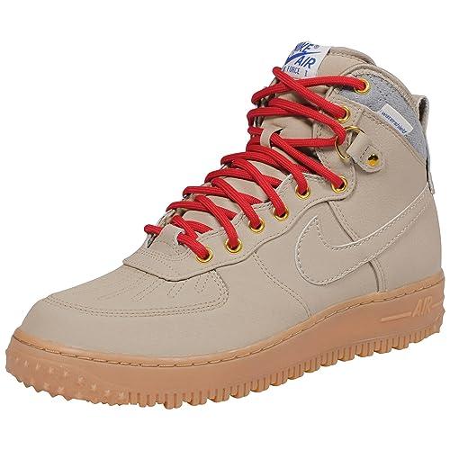 Nike botas Air Force 1 Duck botas Nike de cuero resistente al agua Beige 444745 b5f425