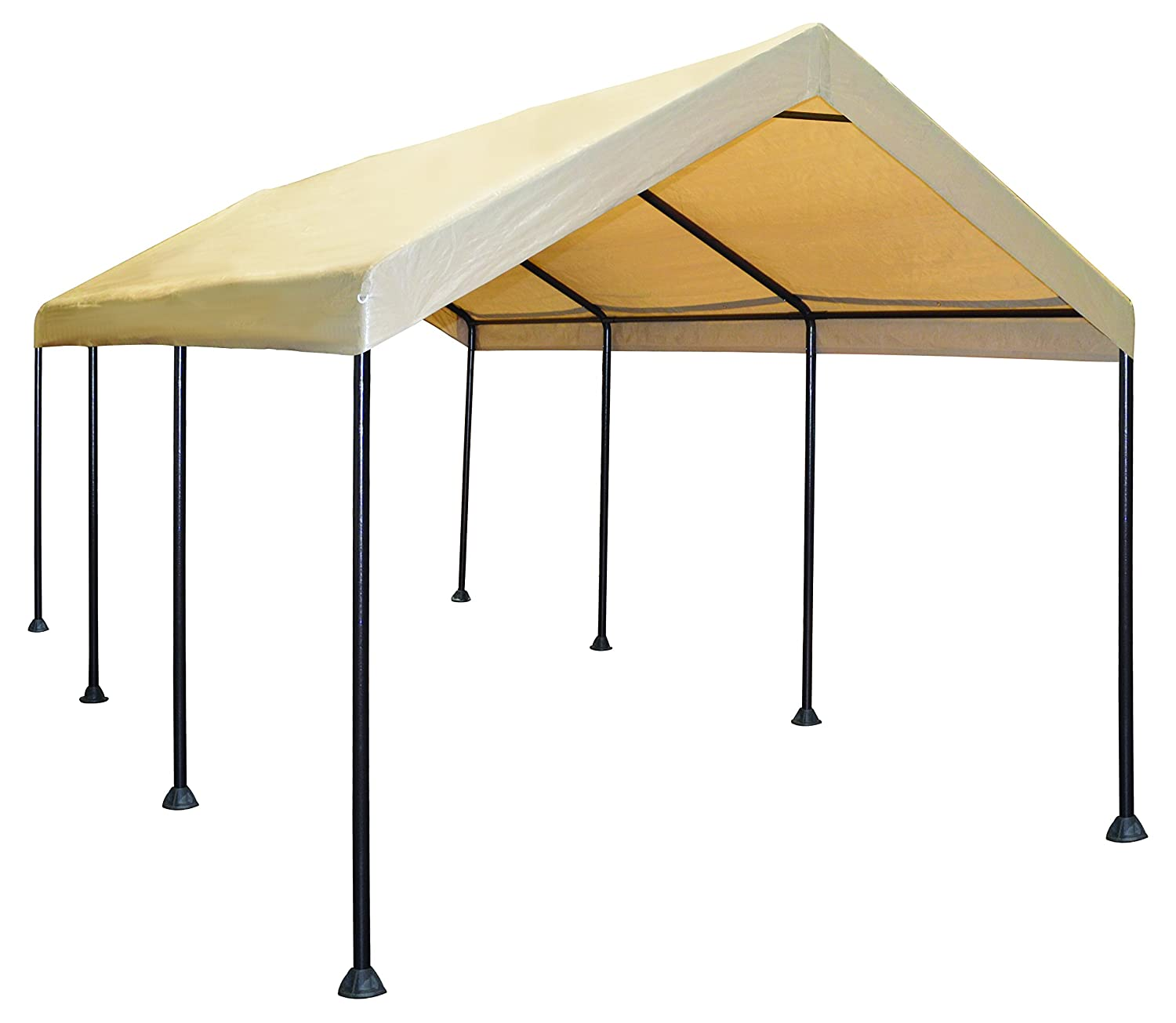 Amazon.com: Caravan Canopy Mega Domain 10 X 20-Feet Carport - Tan ...