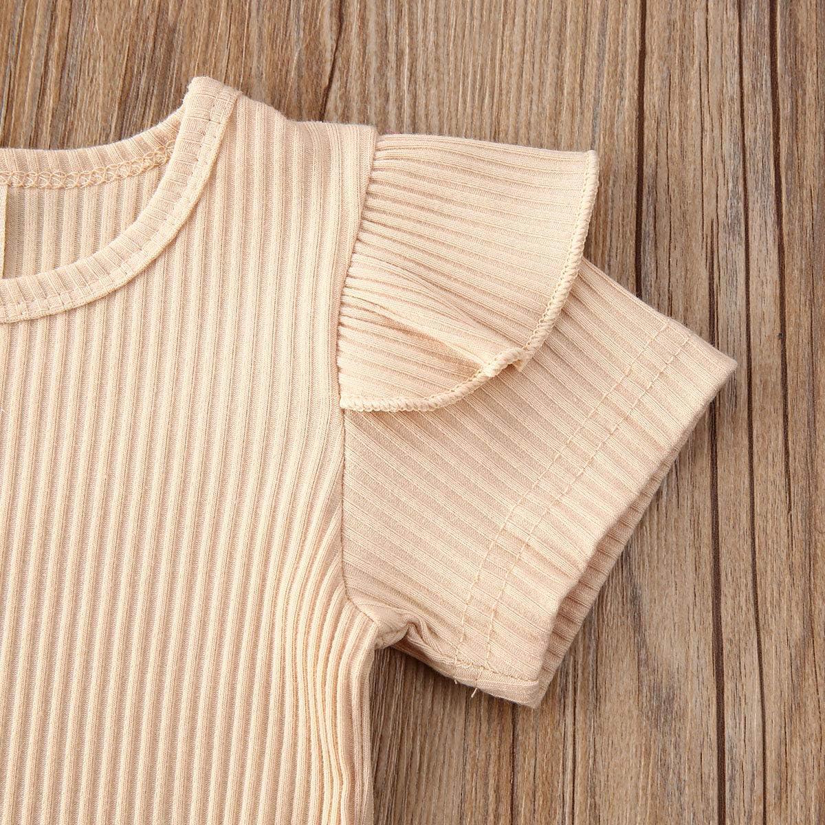 Newborn Baby Girls Floral Bloomers Shorts Infants Girls Knit Short Short Sleeve Romper Tops Summer Clothes