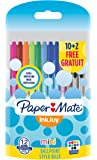 Papermate InkJoy Mini 100 RT 1.0 mm Medium Nib Retractable Ball Pen - Assorted Fun Colours (Pack of 10 Plus 2)