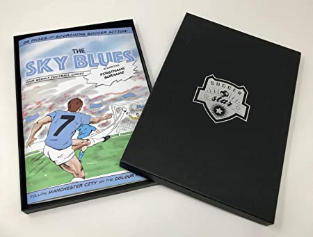 Personalised Soccer Star Hero Comic Book - Manchester City