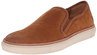 FRYE Men's Gates Slip On Fashion Sneaker, Cognac, ...