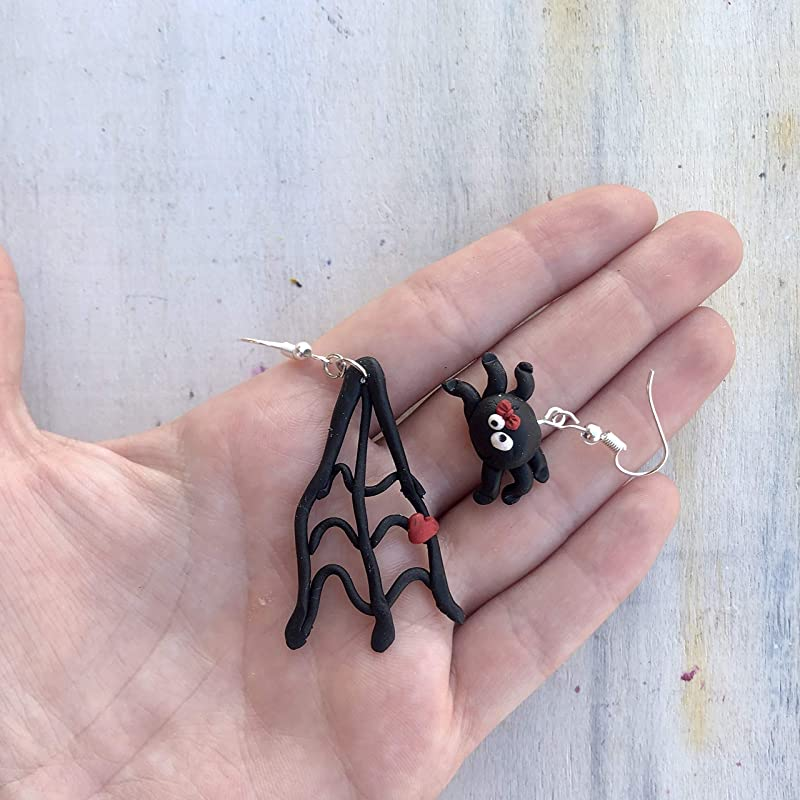 Hand Made Spider Earrings HCE318
