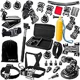 Zookki Essentielle Kit D'accessoires pour GoPro Hero 4 3 3 2 1 Noir Argent SJ4000 SJ5000 Caméra Accessoire pour SJ6000