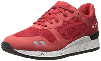 ASICS GEL Lyte III NS Retro Running Shoe, Red/Red, 4 M US