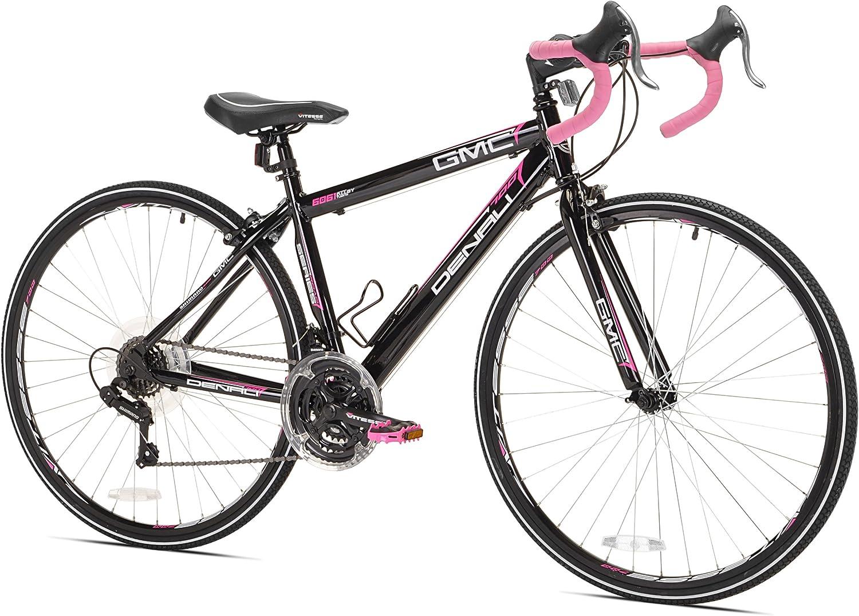 GMC Denali Bicicleta de Carretera, Negro/Rosa: Amazon.es: Deportes ...