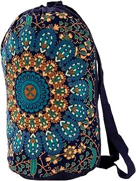 Trade Star Bolsa Indian Star Mandala, Mochila Unisex, Bolsa de Playa Boho, Mochilas Multiusos, Bolsa de algodón, Bolsas de Gimnasio, Mochila Causal (Pattern 7): Amazon.es: Deportes y aire libre