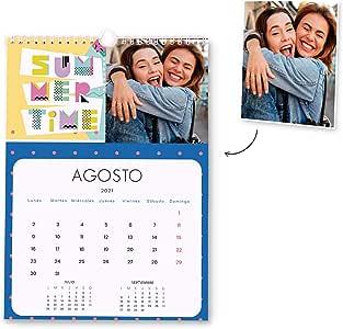 Fotoprix Calendario 2021 pared Personalizado con tus fotos | Varios Diseños y Tamaños Disponibles | Calendario anual con diseño POP | Tamaño: A4 (21 x 29,7 cms): Amazon.es: Oficina y papelería