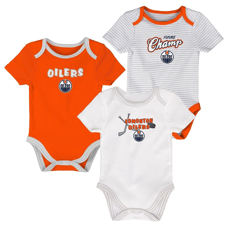 Edmonton Oilers Newborn 3rd Period 3-Piece Creeper Set Outerstuff