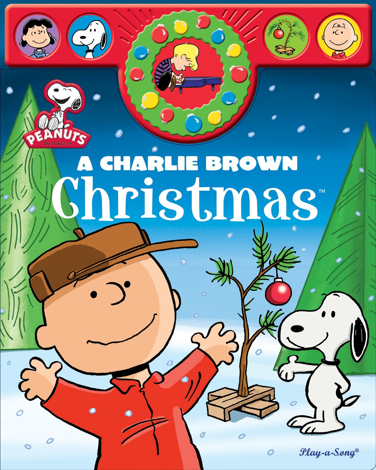 a charlie brown christmas play a song book peanuts play a sound editors of publications international 9781450821728 amazoncom books