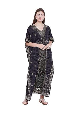Amazon.com: Goood Times - Vestido largo de Kaftan Kimono ...