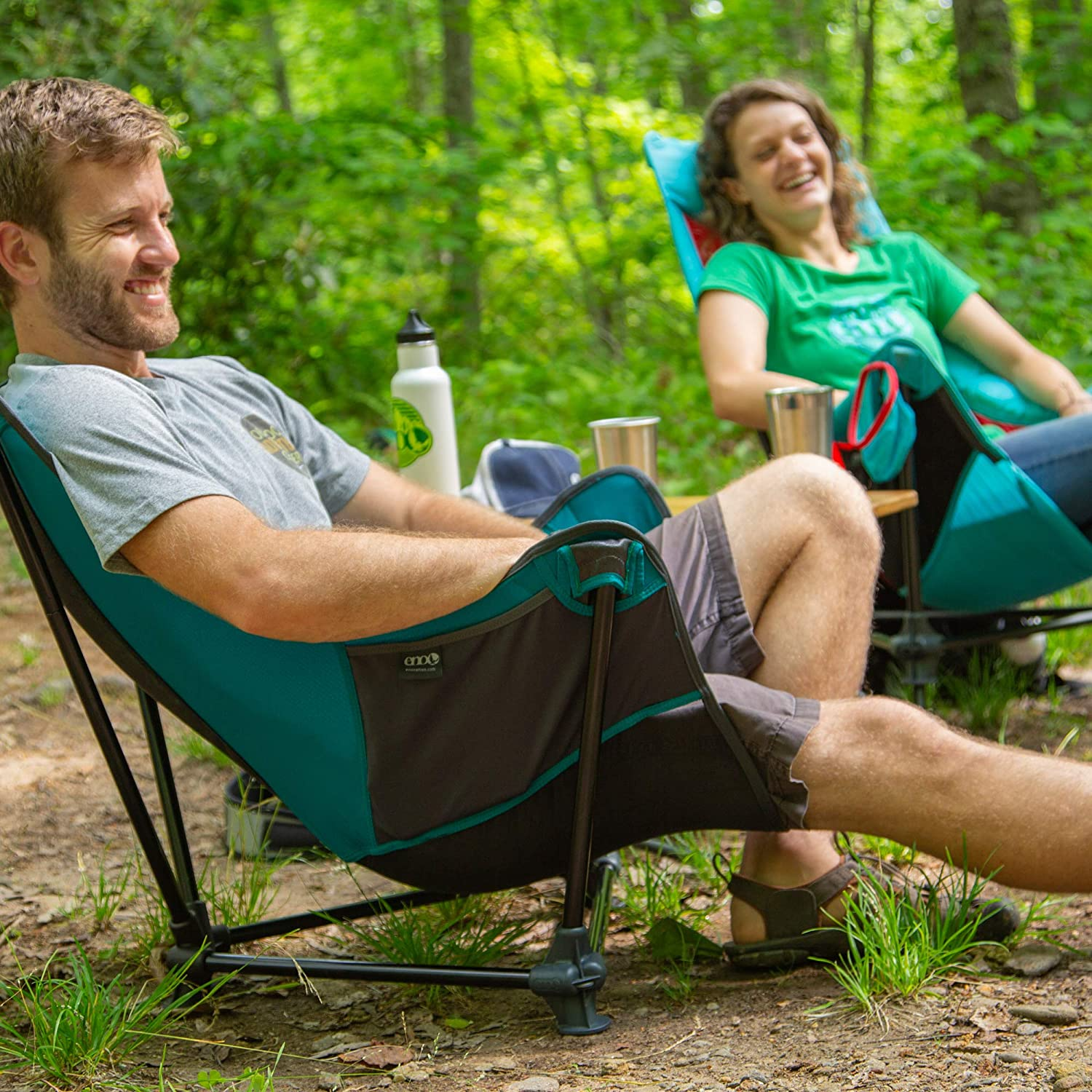 Eagles Nest Outfitters ENO Lounger SL Outdoor Lounge Chair Olive