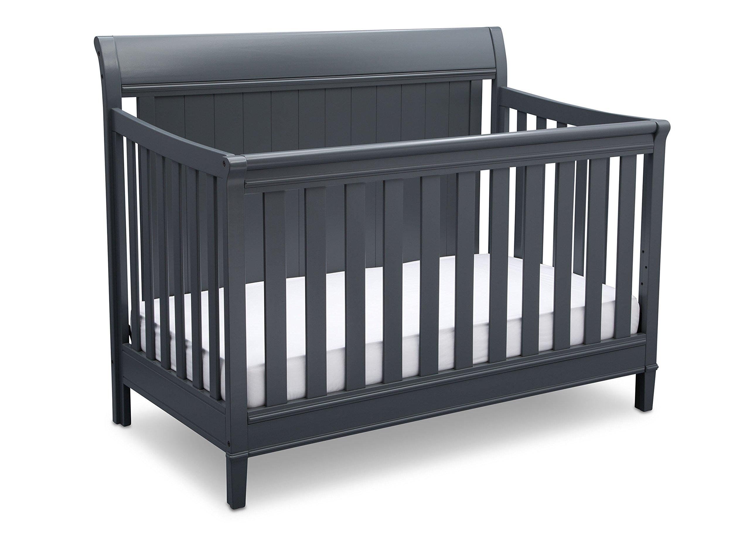 Delta Children New Haven 4-in-1 Convertible Crib, Charcoal Grey