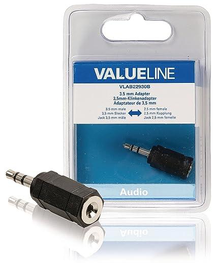 micr/ófonos y lectores de Tarjetas 2 Pack tabletas 3,5 mm Macho a 2,5 mm Hembra Adaptador de Audio Chapado en Oro micr/ófono Adaptador de Audio Extensor de Conector Jack para Smartphones Altavoces