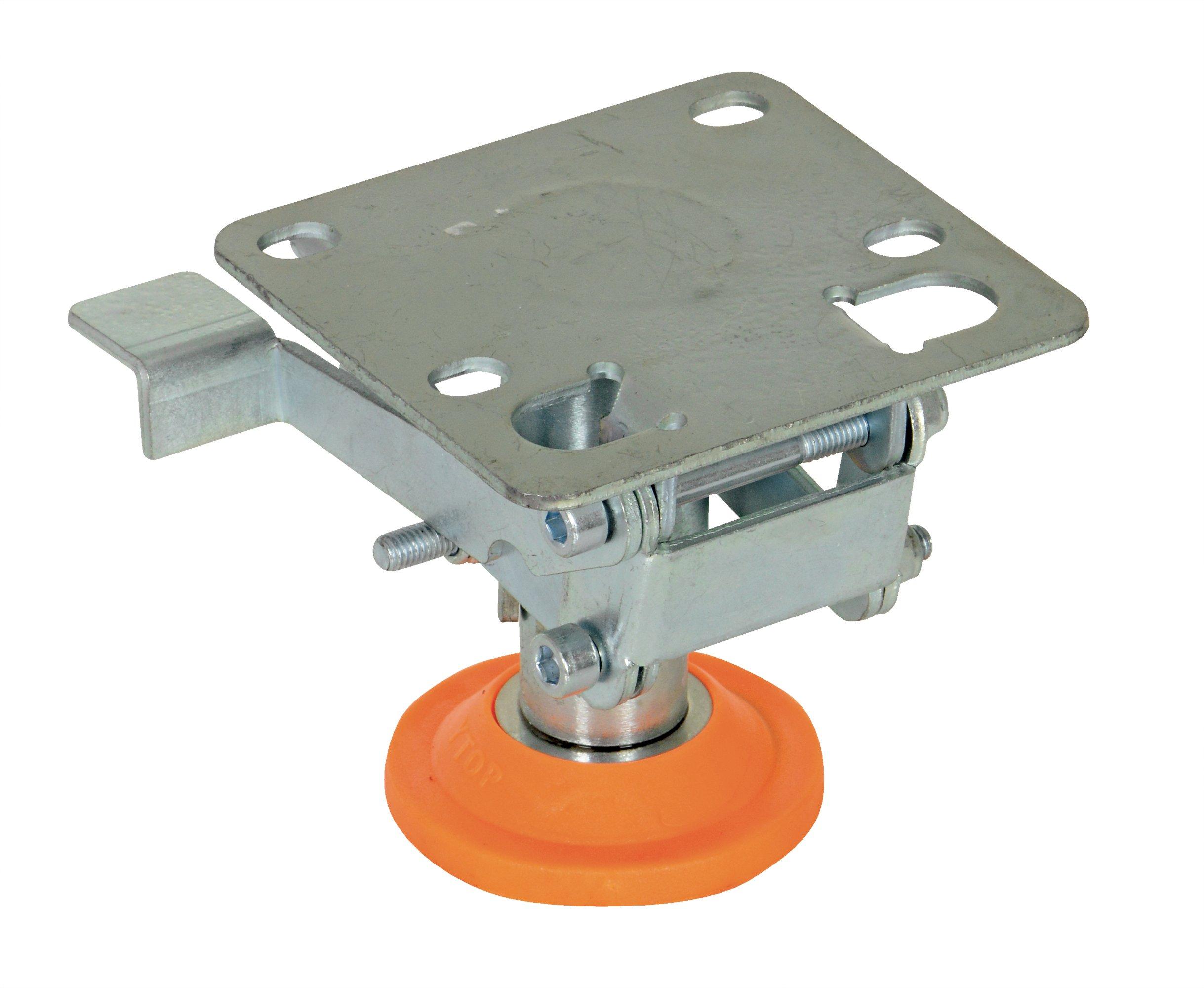 Vestil FL-LKL-3 Floor Lock, Steel/Poly, 3-5/8'' to 4-1/4''