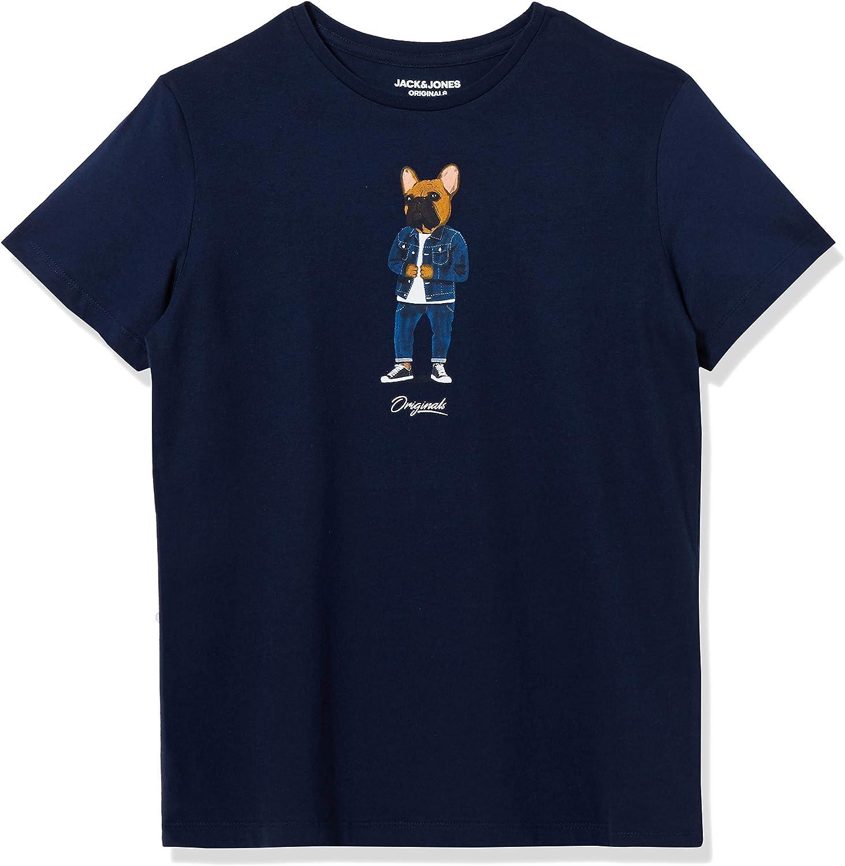 Jack & Jones Jorfrenchie tee SS Crew Neck Camiseta para Hombre