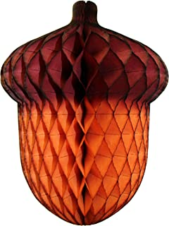 product image for 3-Pack 14 Inch Honeycomb Tissue Acorn Decoration
