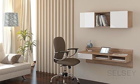 Scrivania Ufficio Sospesa : Selsey living grafen scrivania sospesa con scaffale colore