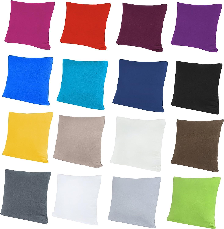 NatureMark 2er Pack Jersey Kissenbezug Kissenh/ülle Kissenbez/üge Seitenschl/äferkissen Nackenkissen viele Gr/ö/ßen und Farben /ÖKO-TEX 40 x 40 cm, Apfel gr/ün