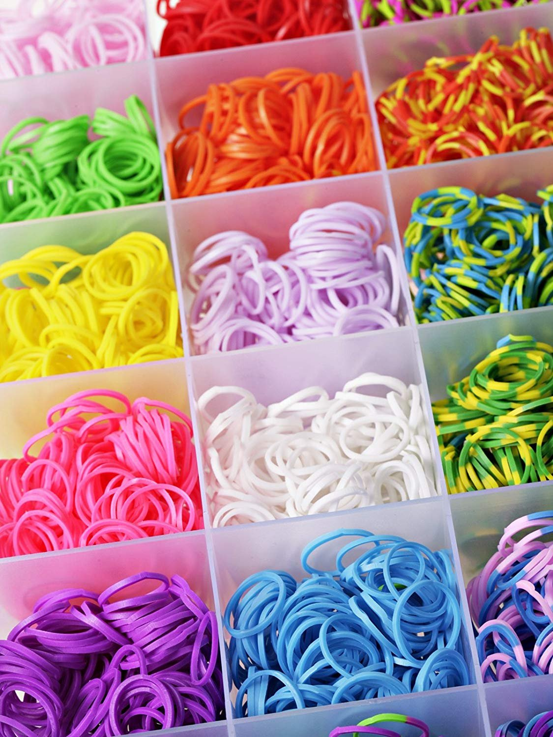 Loom Bandz Kit & Clips Collection with 4200 Bandz + 170 Clips + 5 Hooks + 1 Loom Board 11 Beautiful Colors and Great Storage Case Shopinhand