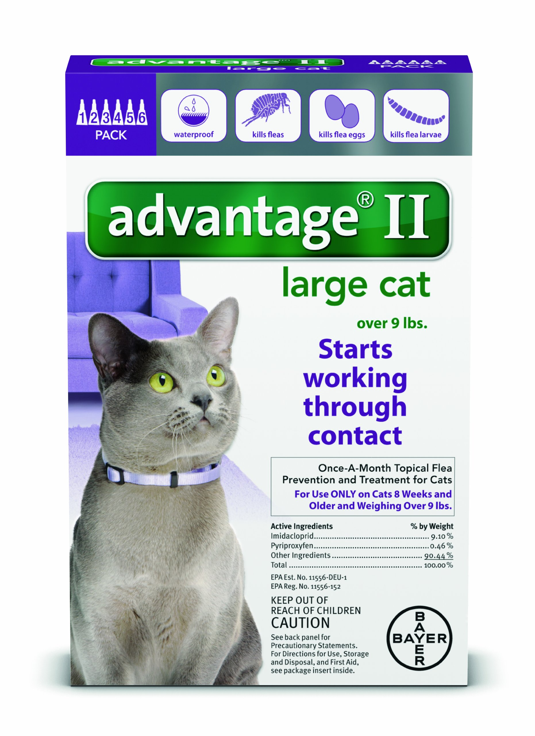 Advantage Cats >9 lb 6pk