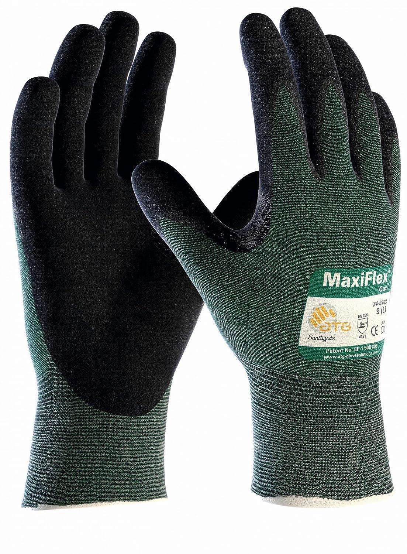 3er Pack MaxiFlex Cut Schnittschutz-Handschuhe, Schnittschutzklasse 3, Arbeitshandschuhe von DBI Trading, Grö ß e:10 (XL)