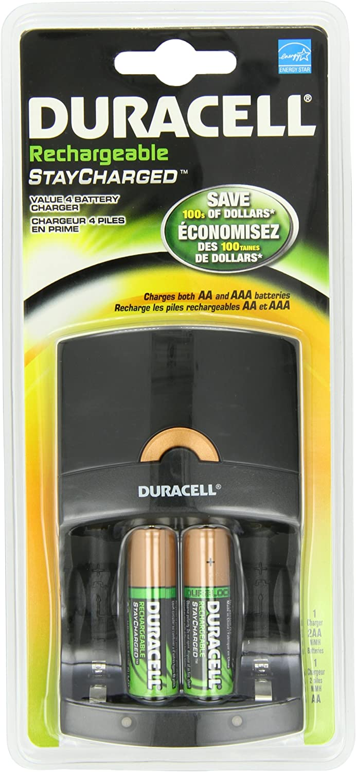 Duracell Value Charger With 2 Aa Rechargeables Precharged 1 Kit