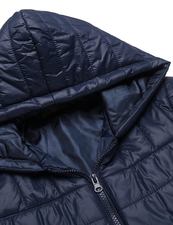 Modfine Herren Daunenjacke Basic Leichte Rei/ßverschluss Winddicht Winterjacke Warmejacke Kapuzen Jacket in 3 Farben
