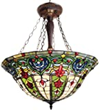Makenier Vintage Tiffany Style Stained Glass Dragonfly