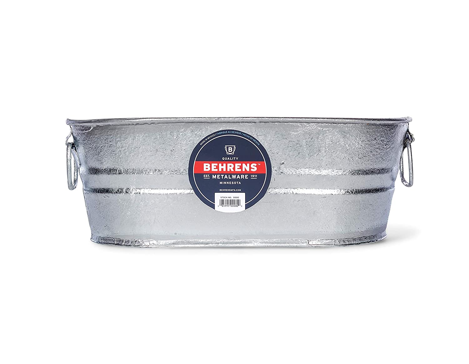 Behrens 000-OV 2-Gallon Oval Steel Tub