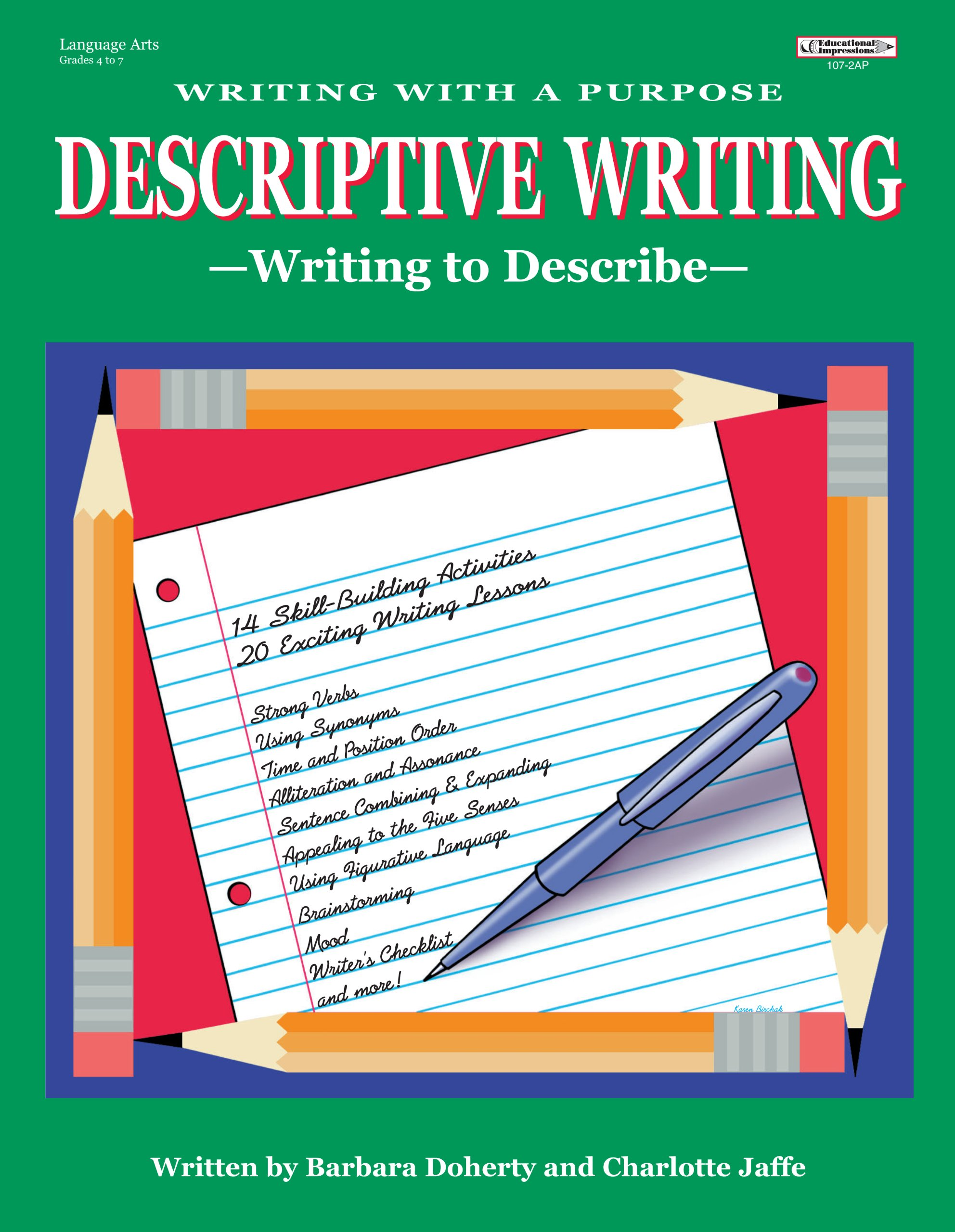 writing with a purpose descriptive writing charlotte jaffe