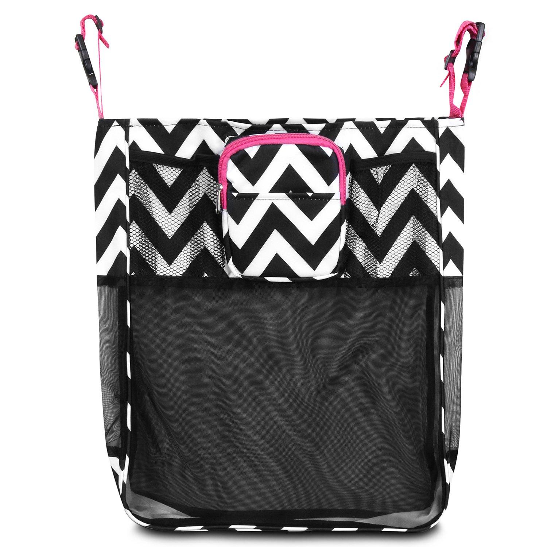 Zodaca Stroller Organizer Bag Black//White Anchors