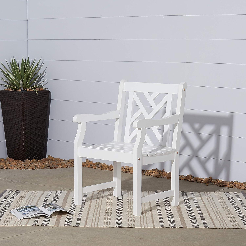 Vifah V1338 Bradley Outdoor Wood Armchair