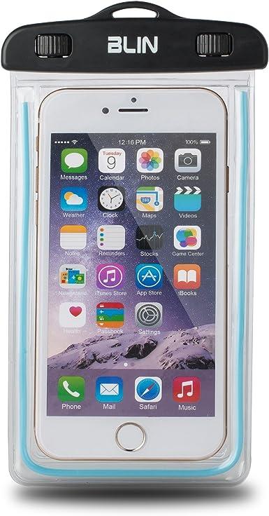 Blin Universal funda resistente al agua bolsa para iPhone 6,6 Plus, 5S, Samsung S6 Nota, LG Sony Nokia Motorola, también compatible con otros smartphones hasta 6.0 diagonal: Amazon.es: Electrónica