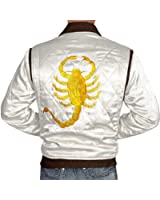 Drive Jacket - White Satin Mens Quilted Jacket ►BEST SELLER◄