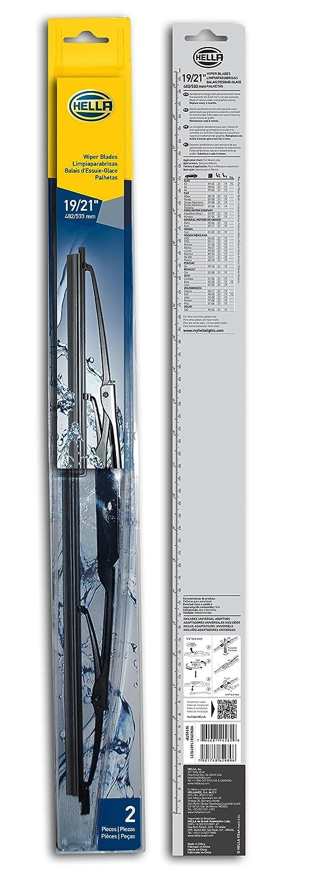 HELLA 9XW398114019/21 Standard Wiper Blade, 19