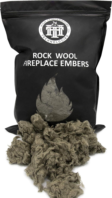 Glowing Embers Rock Wool For Gas Log  4.5 Oz Bags  Two Bags