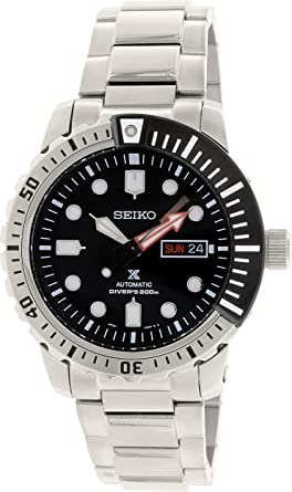 600b29ae5 Amazon.com: Seiko SRP587 Automatic Black Dial Stailess Steel Divers ...