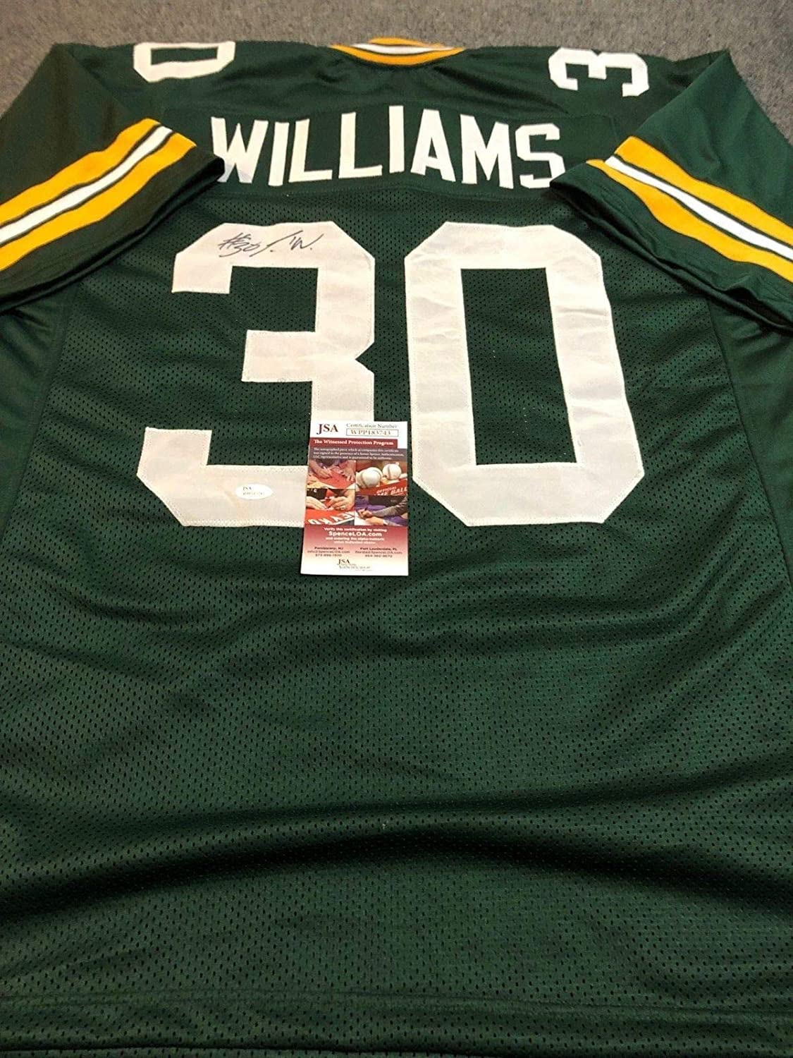new arrival c6e09 02efd G.B. PACKERS JAMAAL WILLIAMS AUTOGRAPHED SIGNED JERSEY JSA ...