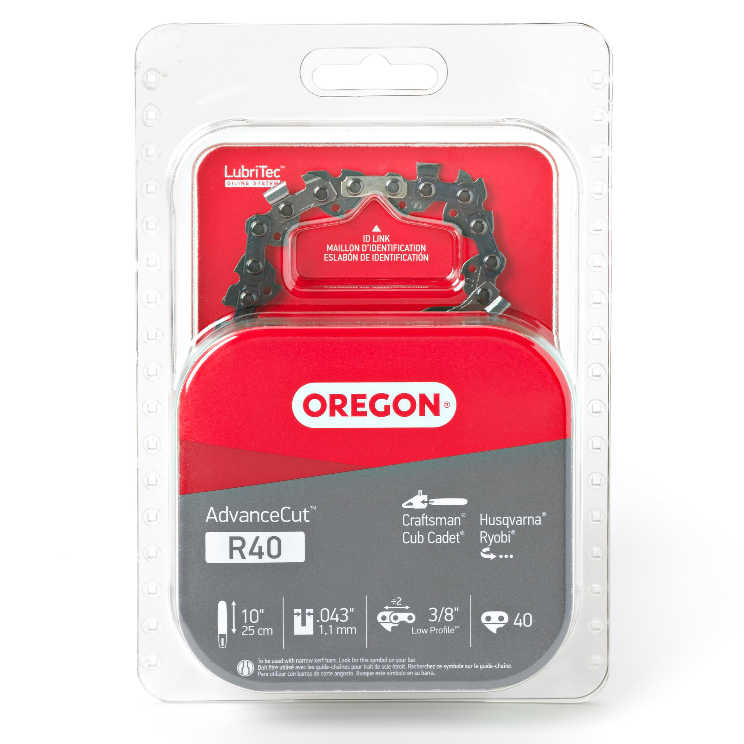 Oregon R40 AdvanceCut 10-Inch Chainsaw Chain, Fits Craftsman, Cub Cadet, Husqvarna, Ryobi by Oregon